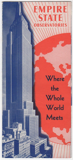 Empire State Building Observation Tower Vintage Graphic Advertising Brochure Poster