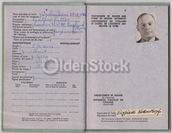 German Political Author Post-WWII Vintage Cancelled UK Passport - Travel Stamps