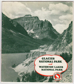 Glacier National Park Great Northern Railway Vintage Graphic Advertising Souvenir Travel Booklet