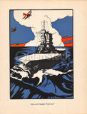 USS Saratoga WWII Aircraft Carrier Antique Graphic Art Illustration Print 1928