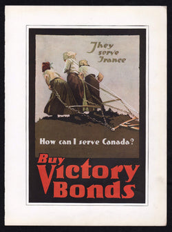How Can I Serve Canada Vintage WWI Propaganda Liberty Bonds Poster Print