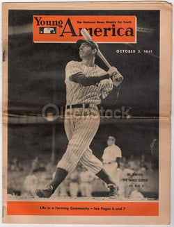 Joe DiMaggio New York Yankees Baseball Vintage WWII Home Front News Magazine 1941