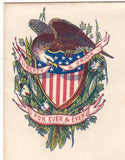 Liberty & Union Forever Civil War Patriotic Antique Graphic Illustration Mail Envelope