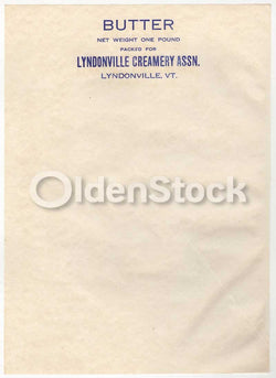 Lyndonville Creamery Vermont Butter Dairy Antique Advertising Stationery Letterhead