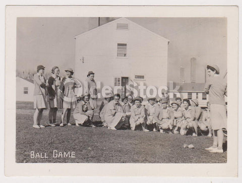 Military Women Baseball Game WAC Training Center Fort Oglethorpe Georgia Vintage WWII Photograph