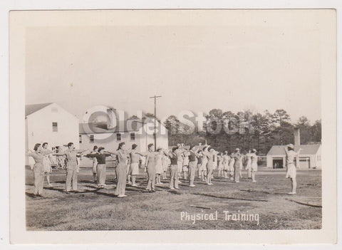 Military Women Morning Drill WAC Training Center Fort Oglethorpe Georgia Vintage