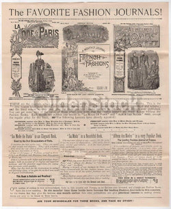 Victorian Fashion Journals Dressmaking Antique Engraving Advertising Flyer