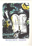 Chagall's Moses Ten Commandments Vintage Graphic Art Poster Print