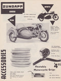 Zundapp Motorcycle Sidecar & Scooter Vintage Graphic Advertising Print Sales Flyer