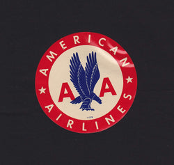 American Airlines Vintage AA Eagle Graphic Advertising Luggage Sticker Decal