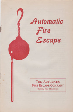 Automatic Fire Escape Antique Fire Fighting Invention Graphic Advertising