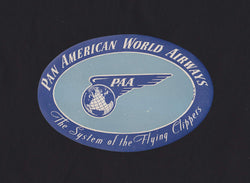 Pan American World Airways PAA Vintage Graphic Advertising Luggage Sticker