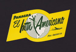 Panagra El Inter-Americano Pan American Airlines Vintage Graphic Advertising Luggage Sticker Decal
