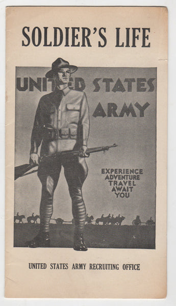 WWII Army Recruiting Brochure San Francisco CA - Football, Air Corps, etc