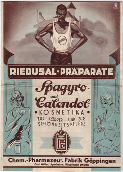 Riedusal Sports Medicine Ointment Vintage German Graphic Advertising Flyer