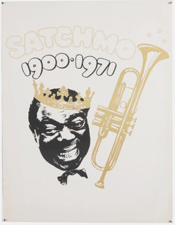 Louis Armstrong 'Satchmo' Jazz Music Great Original Vintage Memorial Poster