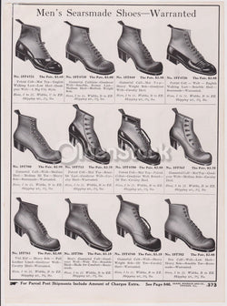 Sears Victorian Men's Shoes Sears Roebuck Designs Antique Graphic Advertising Print