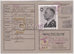 Siegfried Krautkopf German Politics Author Vintage WWII Nazi Germany Passport ID Card