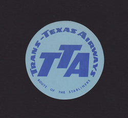 Trans Texas Airways Starliners Vintage Graphic Advertising Luggage Sticker Decal