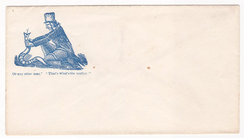 Uncle Sam Choking Out Secession Antique Civil War Propaganda Art Mail Cover