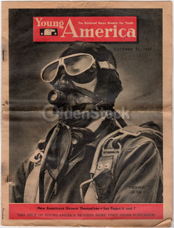 WWII Strato Bomber Pilot Vintage Illustrated Military Homefront News Magazine 1941