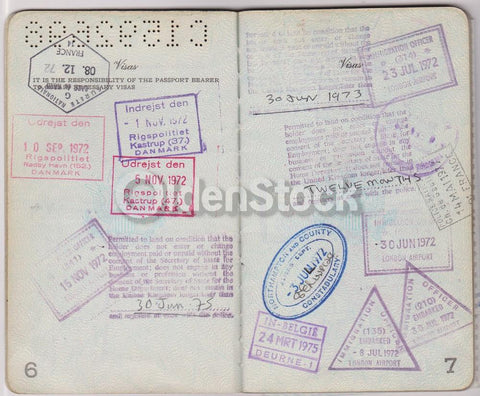 American Man Vintage Cancelled US Passport - Stamps to Czechoslovakia Romania