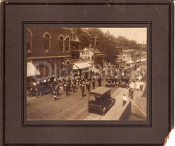 Stafford Connecticut WWI Parade Street Scene 1917 Large Antique Photo on Board