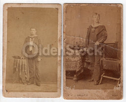 German Navy Boy Soldiers Antique CDV Photos - One ID'd
