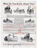 Smith Flyer Autocycle Motorcycle Milwaukee Wisconsin Antique Advertising Flyer