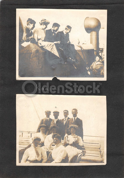 SS Königin Luise Mediterranean Cruise Vacation Antique Snapshot Photos 1913