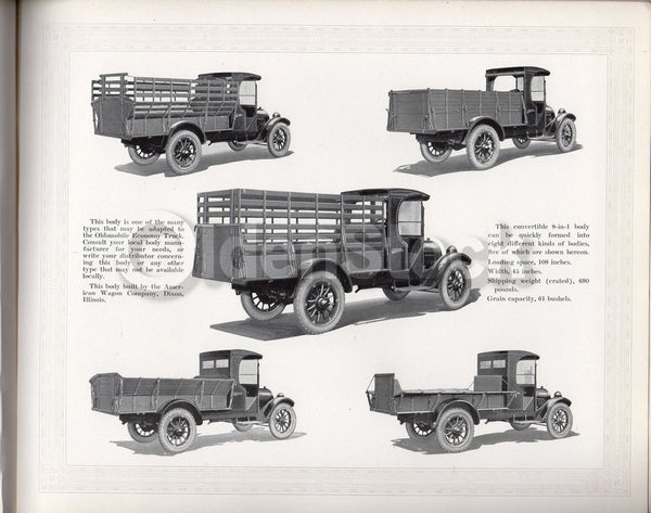 1919 Oldsmobile Salesmen's Catalog Antique Trucks Graphic Advertising Price List