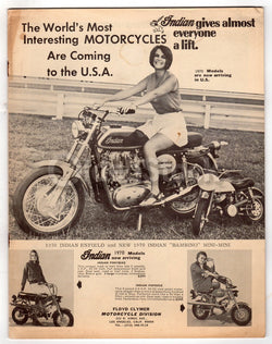 Indian Motorcycles Vintage Floyd Clymer Automotive Advertising Sales Catalog