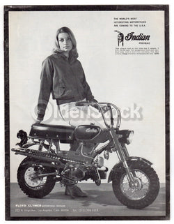 Indian Pony Scout Motorcycles Vintage Floyd Clymer Advertising Sales Catalog