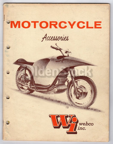 Webco Motorcycles Venice CA Vintage Motorbike Accessories Sales Catalog 1961