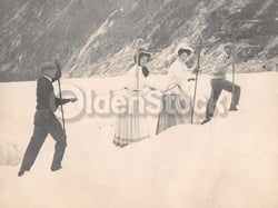 Intrepid Explorers in the French Alps Charming Vacation Antique Snapshot Photos