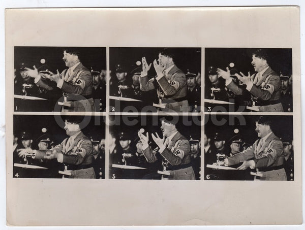 Adolf Hitler Infamous 1942 Speech Original WWII German Press Photo