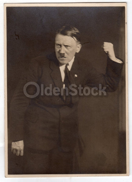 Adolf Hitler Impassioned Speech Pose Original WWII Nazi Publicity Photo