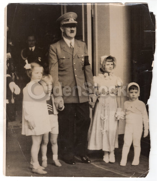 Adolf Hitler 50th Birthday Parade Large Original WWII German Propaganda Photo