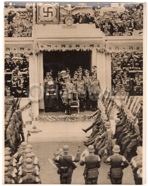 Adolf Hitler 50th Birthday Parade Large WWII German Propaganda News Photo