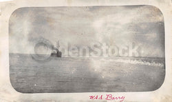 USS Barry DD-2 US Navy Destroyer Russo-Japanese Warship Antique Snapshot Photo