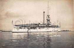 USS Helena Spanish American War Navy Gunboat Ship in Philippines Antique Photo