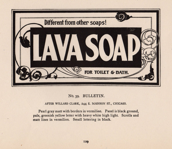 Lava Soap Bathroom Toiletries Antique Art Deco Advertising Signage Print
