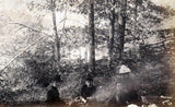 Lake Quonnipaug Connecticut Victorian Family Picnic Antique Photograph 1887
