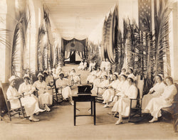 WWI Puerto Rico Nurses Patriotic American Flags Hospital Military Photos 1918