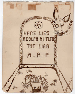 WWII Anti-Nazi Here Lies Adolf Hitler Song Original Music and Political Cartoon