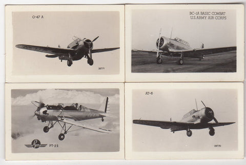 Ryan P22 BC1A Air Force Fighter Planes Vintage WWII Spotters Mini Photos