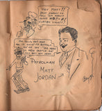 New Castle Pennsylvania Railroad Vintage 1930s Caricatures Jack Bryan Artist Sketch Book