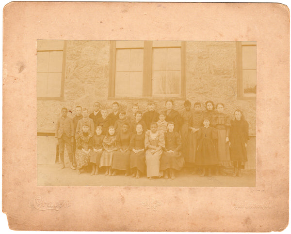 Doylestown PA African American & White School Children Together Antique Photo