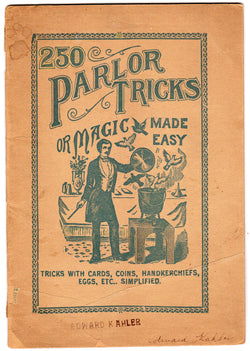 Magic Made Easy Book of 250 Parlor Tricks Vintage Magicians Trade Catalog