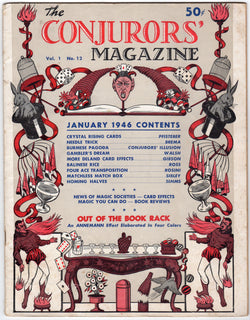 Conjuror's Magazine January 1946 Vintage Magician's Tricks Guide Book